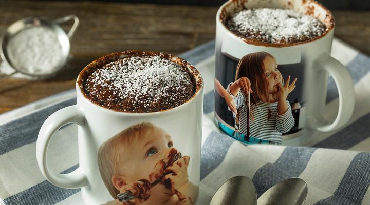 brownie in tazza